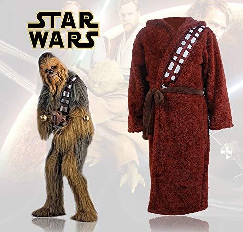 Star Wars Chewbacca Bademantel Bad Kostüm Plüsch Flauschiger Mantel L - XL (Kostüme Star Wars Chewbacca)