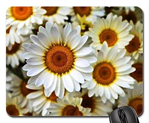 Happy Faces Mouse Pad,Flowers Non-Slip Mouse Pad Office Competitive Mouse Pad 18X22cm