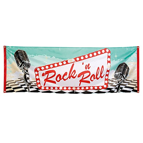 Banner Rock 'n' Roll Party 220 x 74 (Kostüm N Party Supply)