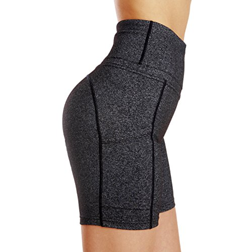 ports Shorts Damen Enge Yoga Fitness Hosen Yoga Shorts Dark Grey L ()
