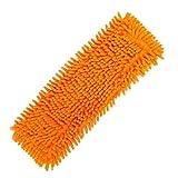 1 Pièces Chiffon de Lavette ,Yannerr Garniture de nettoyage à la maison - Lavette de poussière de ménage de chenille - Remplacement de la tête (Orange)