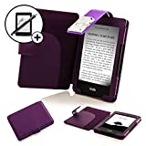 Forefront Cases Kindle 2014 (7ème Génération) Étui Housse Coque Case Cover avec détachable LED Lampe - Extra Rembourré Protection Complète - Smart Auto Veille Réveil - Violet + Stylet & Protecteur