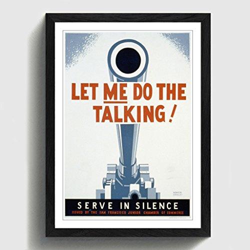 BIG Box Art schwarz A2gerahmt 62,2x 45,7cm (62x 45cm) Vintage WPA Poster Let Me Do The Talking,