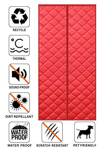 Liveinu isolamento termico tenda magnetica per porte impermeabile zanzariera magnetica con thermo per camera climatizzata isolamento acustico 120x240cm rosso