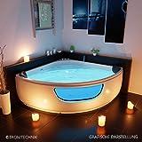 Tronitechnik Whirlpool Badewanne Paros, Maße:150cm x 150cm