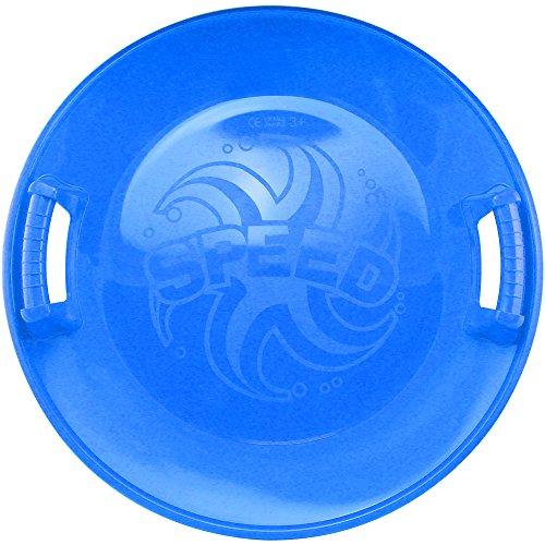 COM-FOUR® 1x Super Pistenrutscher mit breitem Rand und Griffmulden für mehr Sicherheit in blau (Speed blau)