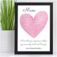PERSONALISED Christmas Birthday Gifts for MUMMY NANNY AUNTIE Gifts - Birthday Christmas Mothers Day Gifts - A5 A4 Framed Prints or 18mm Wooden Blocks - Mum Mummy Nanny Granny Auntie ANY NAME