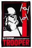 Star Wars Kinder Offizielle Storm Trooper Fleecedecke (Einheitsgröße) (Schwarz/Weiß/Rot)