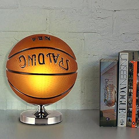 WOQU® Dessin animé basketball Lampes de table étude chambre à coucher lampe de chevet chaud éblouissement enfants garçons ventilateurs cadeau lampe de bureau Button switch