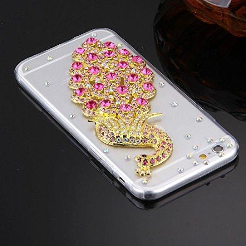 Wkae Case & Cover Pour iPhone 6 &6s Motif diamant Encrusted Lunettes Cat Perle de Bell souple TPU étui de protection Quatrième de couverture ( SKU : IP6G5600B ) IP6G5600P