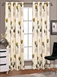 "66"" x 90"" Allium / Dandelion Teal Modern Eyelet / Ringtop Faux Silk Curtains Pair, Fully Lined"