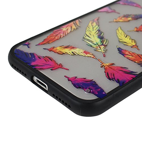 Coque iPhone 7 Housse Souple TPU Transparent en Fleur, Étui iPhone 7, Moon mood® Portable Couverture de Protection pour Apple iPhone 7 4,7 pouces Doux Peau Cas Housse en Silicone Transparent TPU Coque Style -4