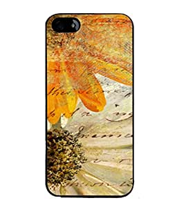 Snapdilla Designer Back Case Cover for Apple iPhone 5S (Texture Illustration Background Brown Backcase Pouch )