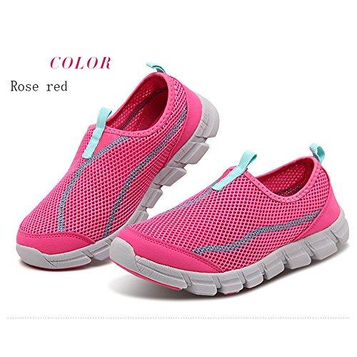 XIANV Männer Casual Schuhe Sommer Breathable Mesh Männer Schuhe für Männer Super Light Flats Schuhe Walking Schuhe Stieg rot