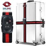 Koffergurt – Von TSA genehmigt, BEZ™ Anpassbarer Reisekoffergurt Koffergurt Gepäckband Sicherheitsband