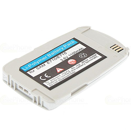 cellePhone PolarCell Akku Li-Polymer für Samsung SGH-E710 E715 - silber ( ersetzt BST2069SE / BST2069DE )