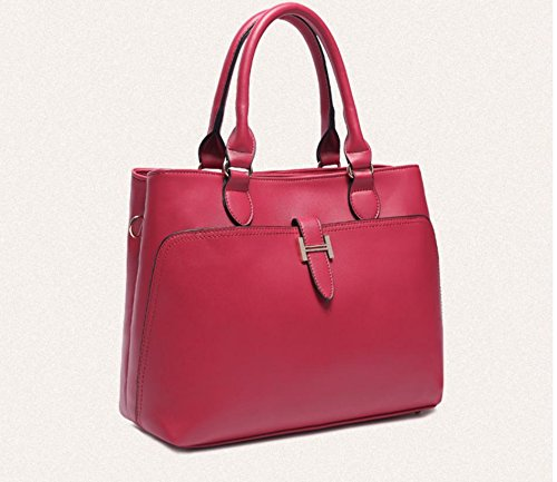 X&L Women's Vintage Mode Handtasche Umhängetasche diagonal fashion red