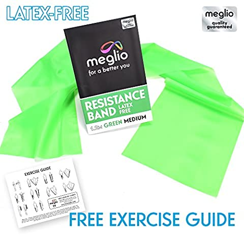 Latex Free Resistance Bands for Fitness Workouts, Rehabilitation & Strength Training Premium Quality 1.2 & 2 Metre Length - Exercise Guides Included
