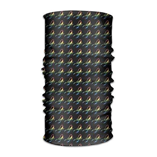 LisaArticles Bandana Stirnband Stylish Rainbow Scorpion Multifunktions-Handschal, Gesichtsmaske, Nackenschutz, Sturmhaube, Schweißband, Kopfbandage, UV-Beständigkeit für Outdoor-Sportarten.