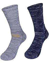kamija - Calcetines de senderismo y senderismo para hombre, suaves calcetines térmicos para entusiastas del