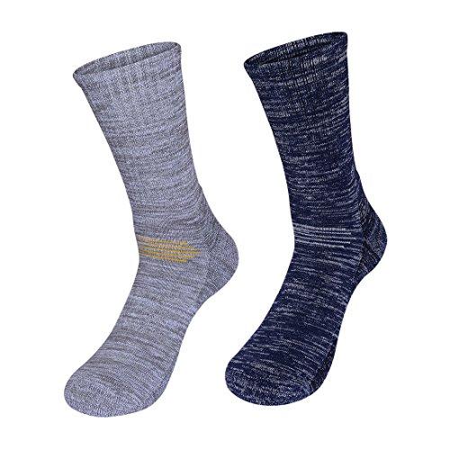 kamija Herren Wandern & Trekking Socken, weichem Thermo-Performance Socken für Outdoor Enthusiasten, Wicking Kissen Anti Blister Crew Socken für Outdoor-Aktivitäten