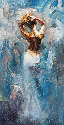 SUMIANYH 100% Handgemalte Ölgemälde Top Künstler Handgemalte Modernen Abstrakten Mädchen Nackt Messer Öl Malerei Handgefertigte Nackt Rückwand Kunst Bilder 80×160 cm -