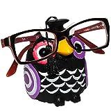 """Brillenhalter - """" lustige Eule - schwarz """" - stabil aus Kunstharz - universal Größe - für Kinder & Erwachsene / Brillenhalterung - lustiger Brillenständer - für Sonnenbrille Lesebrille - Brillenablage - Tier lustig - Deko Figur - Prüfung - Schule / Lernen Abschluß - Fahrschule - Universität"""