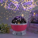 FONKIC Baby Nachtlicht Mond Sterne Projektor Schreibtischlampe USB Rechargable Kreatives Geschenk,kt