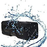 EchoAcc® Altavoz Bluetooth al Aire Libre 3600mAh de Energía Portátil, Bluetooth 4.0 con NFC, 3W * 2 Sonido de Bajos Estéreo, Micrófono Incorporado Altavoces Inalámbricos (Negro)