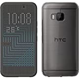 HTC Ice Premium Dot View Window Protective Case Cover with Auto On/Off Function for HTC One M9 - Grey