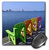 Danita Delimont - Alabama - Adirondack Chairs, Orange Beach, Alabama, USA - US01 FVI0020 - Franklin Viola - MousePad (mp_87276_1)
