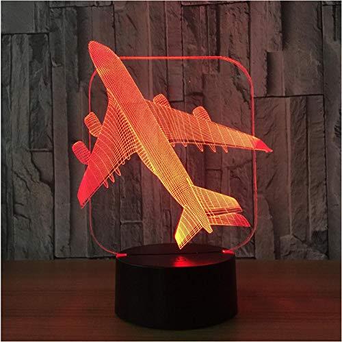3D Led Illusion Lampe Flugzeug Kampfflugzeug Modell Kreative Nachtlicht, Touch Jet Flugzeug Schreibtischlampe Nachttischlampe Kühlen Spielzeug -
