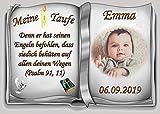Tortenaufleger Fototorte Tortenbild Zuckerpapier Taufe Buchform DIN A4 T29