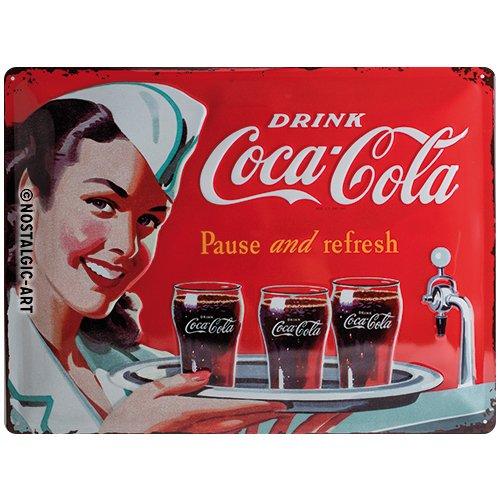 Nostalgic-Art 23192 Coca-Cola - Waitress, Blechschild 30x40 cm