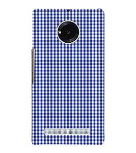 Blue Checks Pattern 3D Hard Polycarbonate Designer Back Case Cover for YU Yureka AO5510