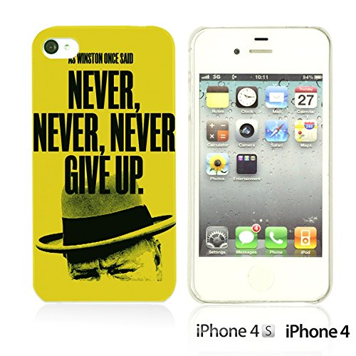 OBiDi - Typography Pattern Hard Back Case / Housse pour Apple iPhone 4S / Apple iPhone 4 - Life Is Never Give Up