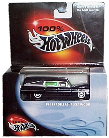 Hot Wheels 2001 1963 Cadillac Fleetwood Herse with Display Case