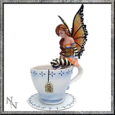 Warm Toes Fairy In Tea Cup 16cm - Amy Brown - Nemesis Now