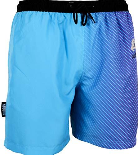 GUGGEN Mountain Herren Badeshorts Beachshorts Boardshorts Badehose Schwimmhose Männer mit Muster Print* Blau Lila XXXL