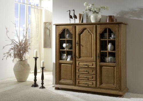 BFK Möbel Collection Highboard, Eiche, Braun