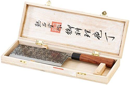 TokioKitchenWare Chinesisches Kochmesser: Chinesisches Hackmesser, handgefertigt (Küchenbeil)
