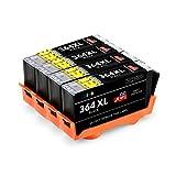 JIMIGO 364 XL 364XL Druckerpatronen Ersatz für HP 364 Tintenpatronen Kompatibel mit HP Officejet 4620 4622, HP Deskjet 3070A 3520, HP Photosmart 5520 7520 5510 7510 6510 6520 6525 5515 5522 5524 B210a