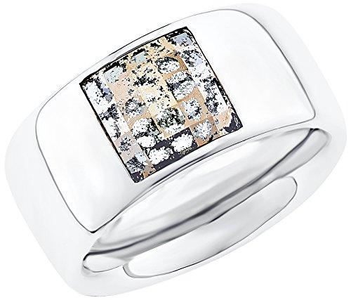 s.Oliver Damen-Ring Swarovski Elements Edelstahl Kristall mehrfarbig Gr. 58 (18.5) - 524698