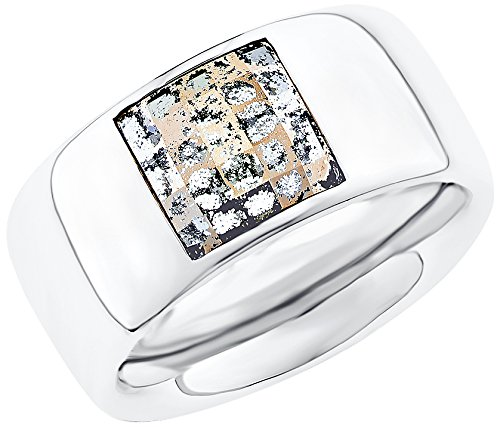 S-ring (s.Oliver Damen-Ring Swarovski Elements Edelstahl Kristall mehrfarbig Gr. 58 (18.5) - 524698)