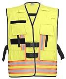 PACOTEX Funktionswesten zur Kennzeichnung von Einsatzpersonal wie z.B. Feuerwehr Warnweste (leuchtgelb mit rot/Silber/rot)