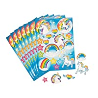 12 Rainbow Unicorn Sticker Sheets for Kids Crafts | Kids Unicorn Crafts