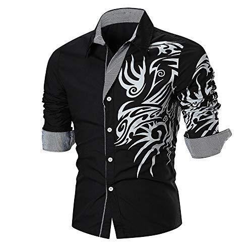 Riou Herren Hemd Slim Fit Langarmshirt Freizeit Langarmhemd Bügelfreies  Business Anzug Party Shirt für Männe Dünne Lange Hülsen-Hemd-Spitzenbluse  der ... 0c7b5c92f7