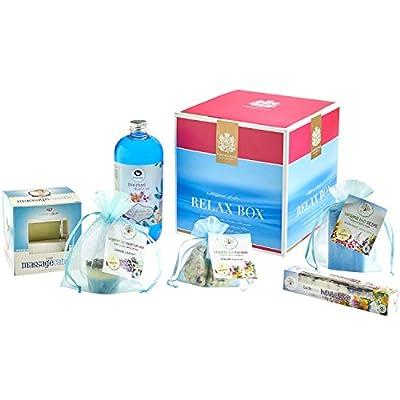 Geschenkbox der Bademeisterei mit der RELAX BOX mit hochwertigen Kosmetikprodukten