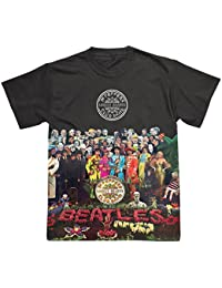 Spike The Beatles Sgt Pepper Black Sublimation Design T-Shirt