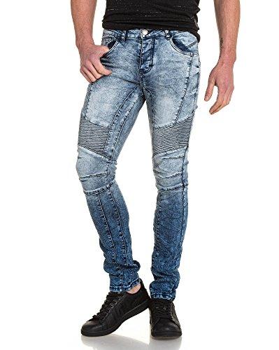 BLZ jeans - Jean schlank gerippt verblasste blau Blau